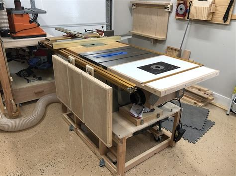 Saws N Dust Project Folding Outfeed Table