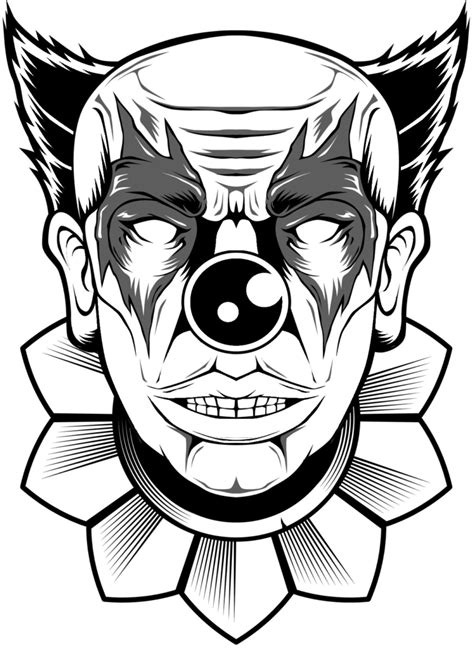 Scary Clown Coloring Pages Halloween Coloring Pages