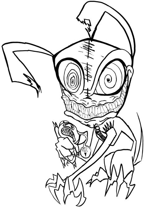 Scary Coloring Pages gotyourhandsfull