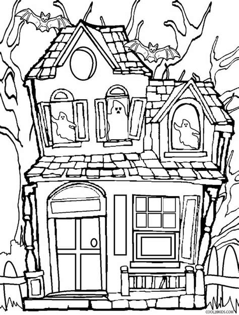 Haunted House Coloring Witches House Decor Best Design Ideas