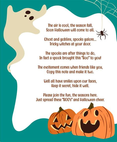 Scary Poems and Halloween Poems Things That Go Boo