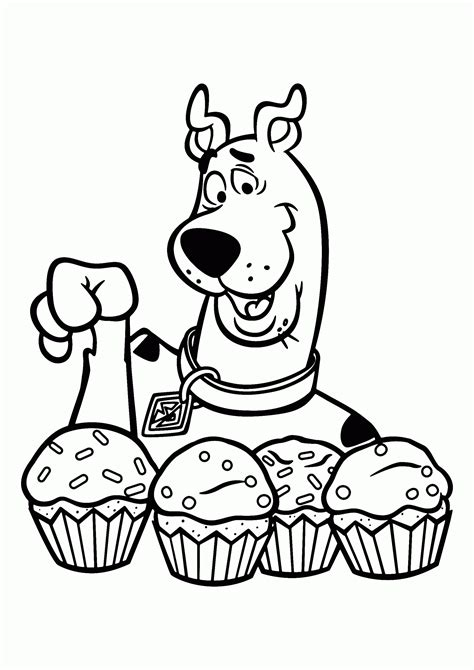 Scooby Doo Coloring Pages Scooby Runs