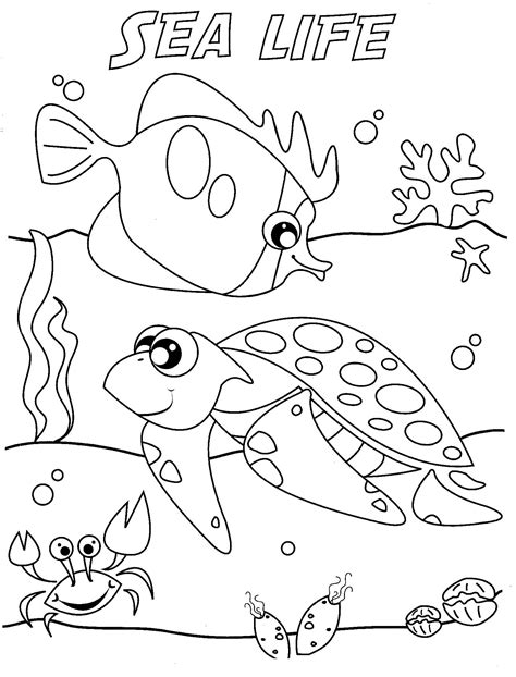 Sea Life Online Coloring Pages Page 1