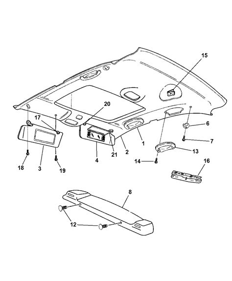 2007 chrysler sebring wiring diagram images wiring diagram search chrysler sebring interior headliner visors and