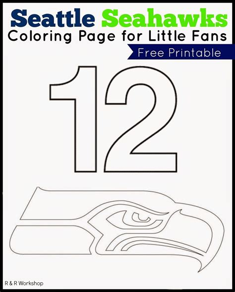 Seattle Seahawks Coloring Pages Printable download free