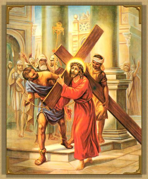 Second Station Jesus carries His cross Prayers