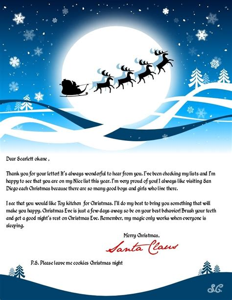 Send A Free Letter To Santa Claus And Receive A Letter