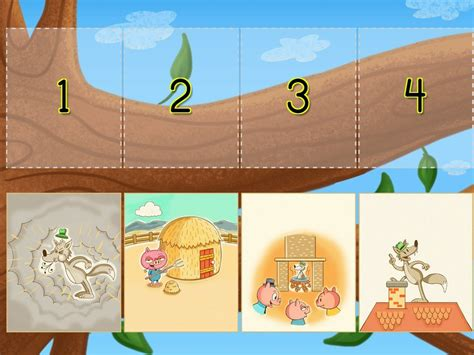 Sequencing The Three Little Pigs Game Education