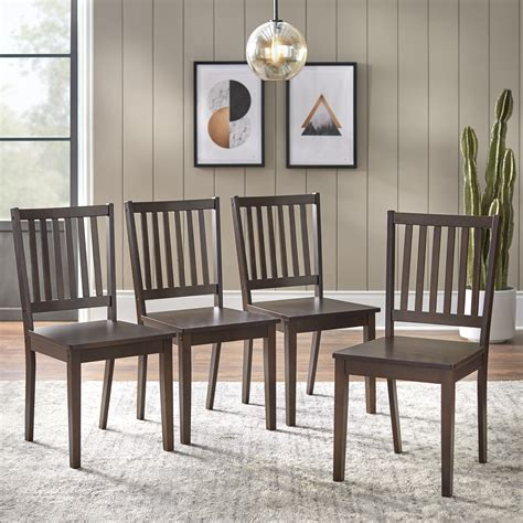 Set Of 4 Dining Chairs Walmart
