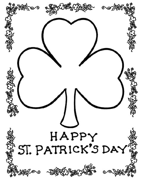 Shamrock Coloring Pages Pictures and Printables
