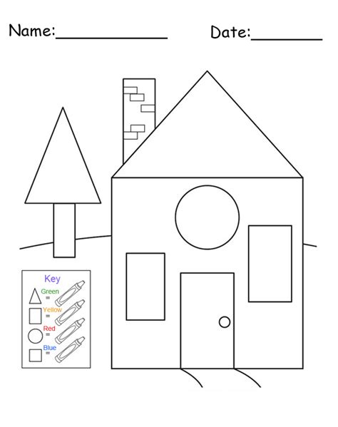 Shape Coloring Pages Shape Tracing Pages Home Plan And