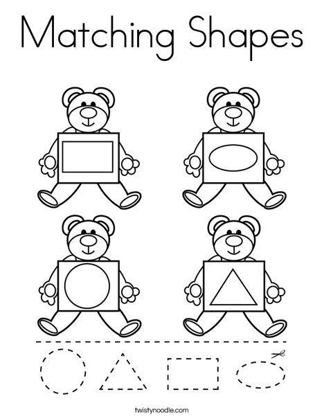 Shapes Coloring Pages Educational Fun Kids Coloring