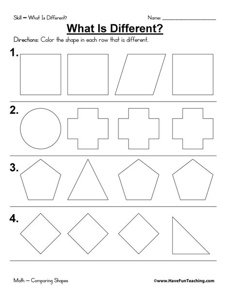 Shapes Coloring Pages Have Fun Teaching