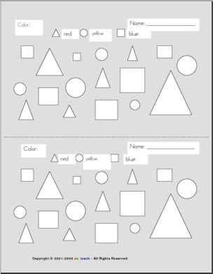 Shapes Patterns and Coloring Pages page 1 abcteach