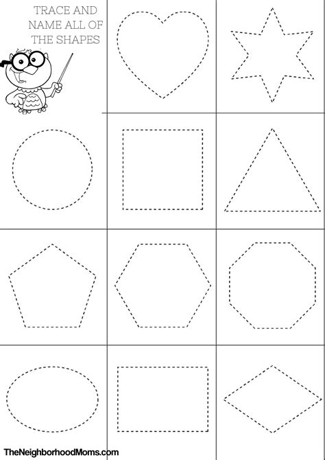 Shapes Printable Coloring Pages Printable Shapes