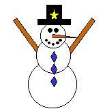 Shapes Snowman Paper Craft dltk holidays