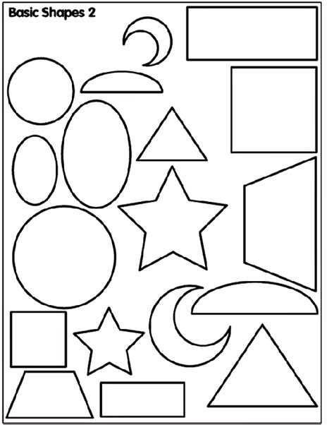 Shapes and Colors Coloring Page crayola