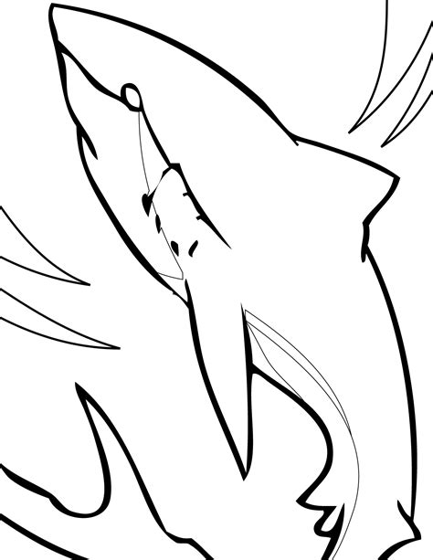 Sharks Printable Templates Coloring Pages