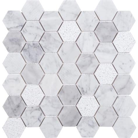 Shop Anatolia Tile Carrara Honeycomb Mosaic Natural Stone