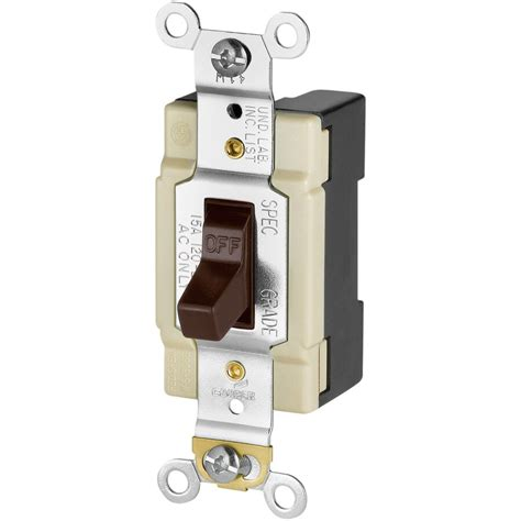Shop Eaton Single Pole Brown Light Switch at Lowes
