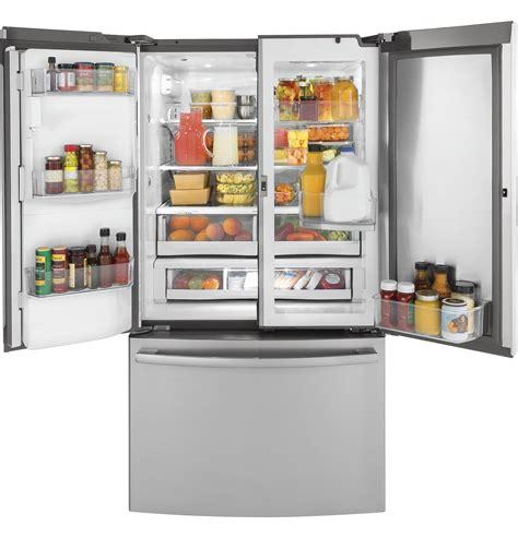 Shop GE 22 2 cu ft Counter Depth French Door Refrigerator