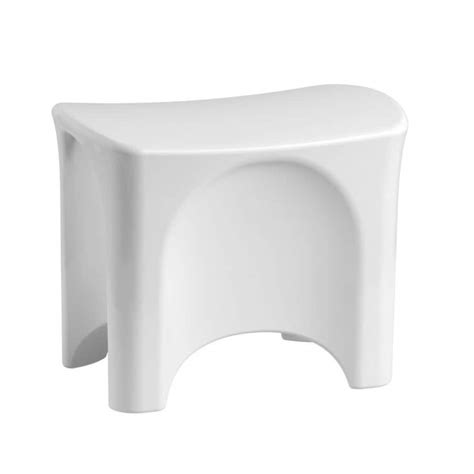 Shop Sterling White Plastic Freestanding Shower Seat at