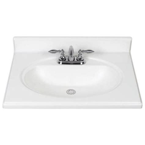 Shop White Cultured Marble Integral Bathroom Vanity Top