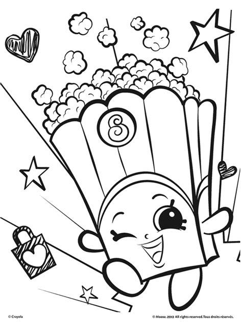 Shopkins Poppy Corn Coloring Page crayola