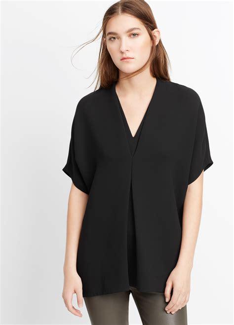 Short Sleeve Black Blouse