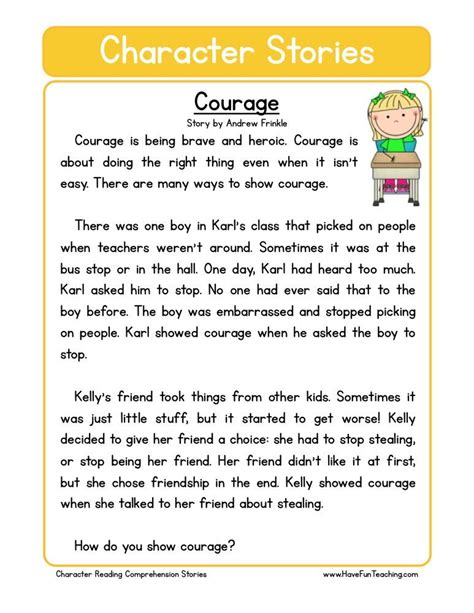 Short Stories about Bravery Free Short Stories for Kids