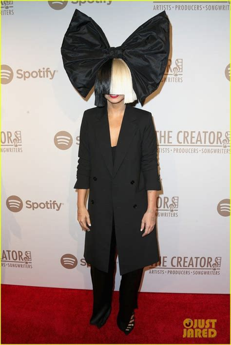 Sia Fergie Hit the Red Carpet at Spotify s Creators Party