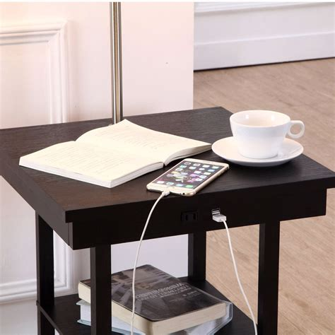 Side Table with USB Ports at Fresh Finds