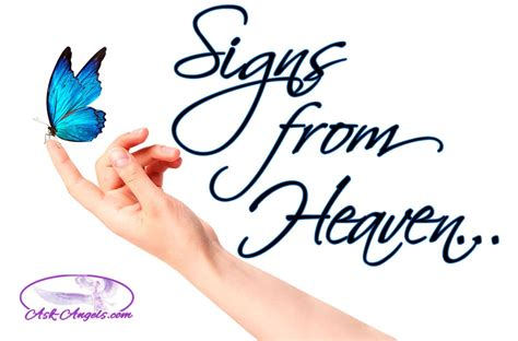 Signs from Heaven Top 9 Signs from Ask Angels
