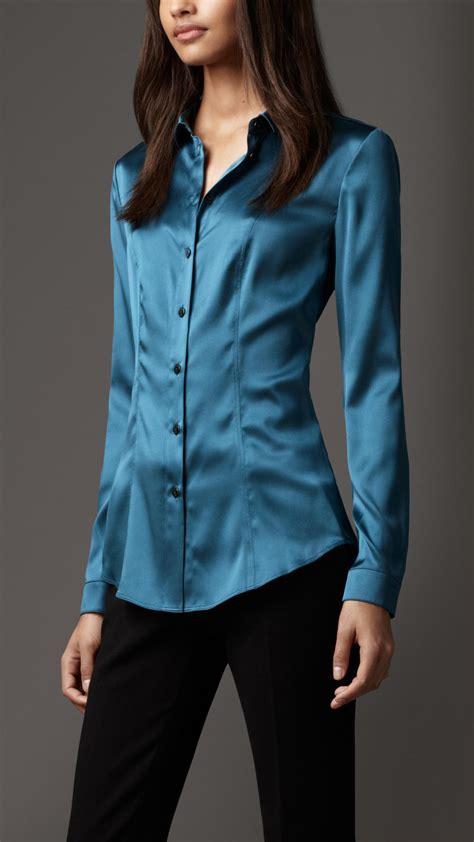 Silk Shirts Womens