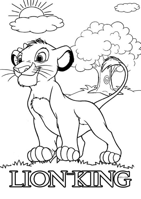 Simba Lion King online coloring page