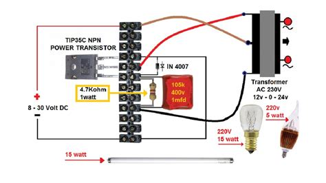 Simple DC to AC Inverter Electronics DIY
