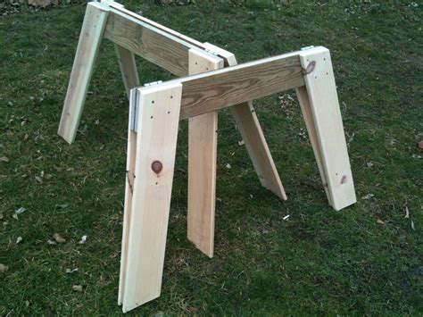 Simple Easy Folding Sawhorses 4 Steps with Pictures