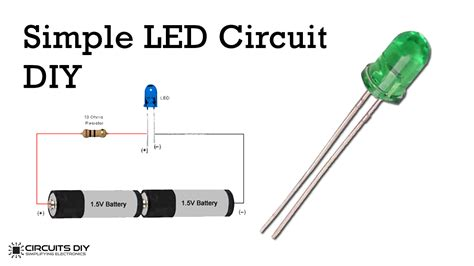 Simple LED Bulb Circuit Electronic Circuit Projects