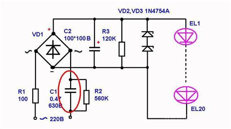 Simple Power Supply Circuits for LED Lamps