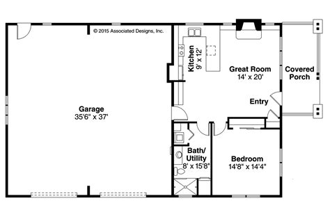 Single Level House Plans w o Garage from