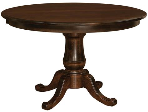 Single Pedestal Tables Countryside Amish Furniture