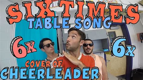 Six Times Table Song Cover of CHEERLEADER by OMI