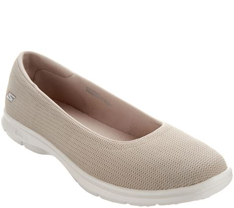 Skechers GO STEP Mesh Ballet Slip On Shoes Luxe QVC