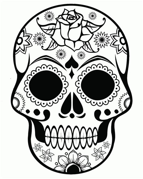 Skull Coloring Pages gotyourhandsfull