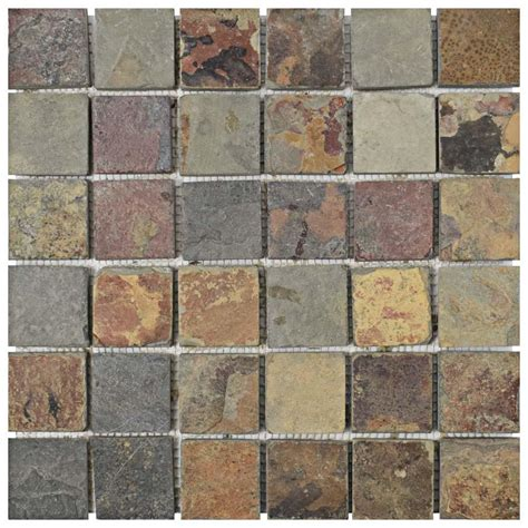 Slate Tile Natural Stone Tile The Home Depot