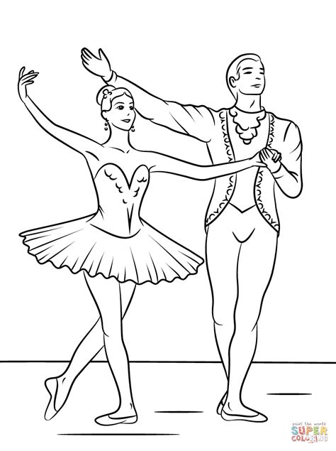 Sleeping Beauty Ballet coloring page Free Printable