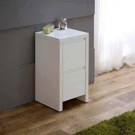 Slim White Bedside Table favefaves