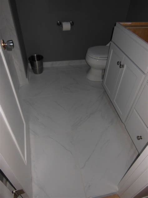 Small Bathroom Flooring Large Format Tiles Daltile