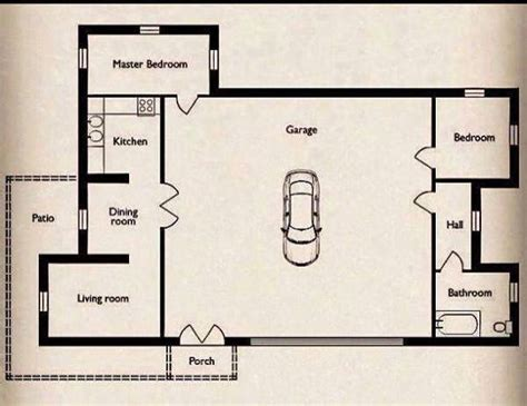 Small Home with a Big Garage Floor Plan Tiny House Talk