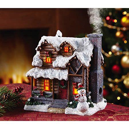 Smoking Country Christmas Cabin Incense Burner from
